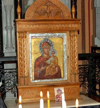 Икона Одигитрия в Иерусалиме