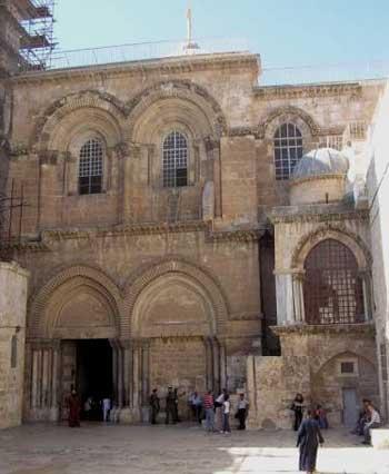 Иисус Христос.  Иерусалиме.  Одна из величайших святынь христианства,Храм Гроба Господня. возведен в.